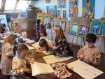 Kinderfeestje portret schilderen op het atelier van Twan de Vos in Wageningen