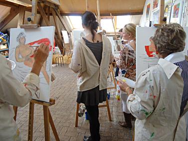 naaktmodel schilderen workshop