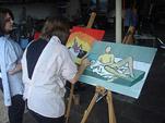 Workshop naaktmodel schilderen op lokatie