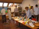 Workshop schilderen op het atelier van Twan de Vos in steenfabriek de Bovenste Pokder in Wageningen